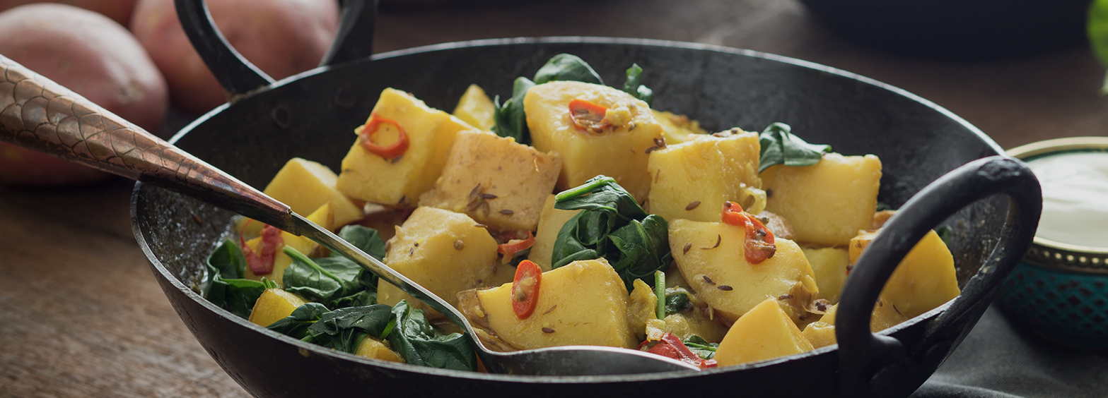 spinach potato curry